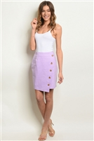 Side Buttoned Detailed Mid Length Skirt