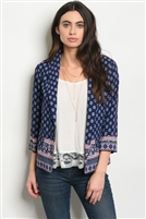 Tribal Printed Adorned Blazer