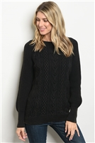 Knitted Adorned Tunic Sweater