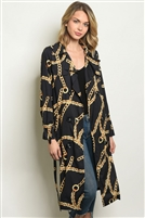 Detailed Chain Printed Duster Kimono