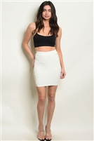 Sheer Meshed Side Detailed Mini Skirt