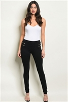 Fitted Zipper Detailed Skinny Pants