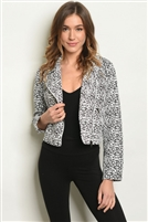 Leopard Printed Detailed Moto Jacket