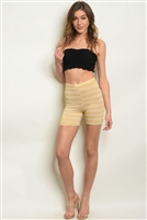 Patterned High Waisted Biker Shorts