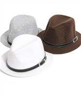 ***OUT OF STOCK*** GET ALL SPECIAL BUNDLE - Buckle Accented Fedora Hats Assorted Colors - 4 Total ONLY $48.00