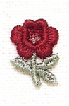 RED ROSE APPLIQUE-SMALL