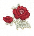 RED ROSE APPLIQUE-LARGE