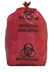 BIO-HAZARD  BAGS-RED (10 GALLON)