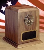 WALNUT MILITARY SPEC URN