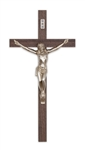 "EXTERIOR 12"" WALNUT CRUCIFIX"