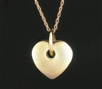 Pendant 14K Gold Puff Heart