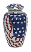 PATRIOT WEATHERED AMEICAN FLAG ADULT URN