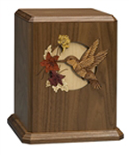 HUMMINGBIRD SOLID WALNUT URN-ADULT