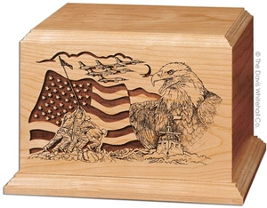 THE AMERICAN SOLID OAK URN