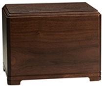 HAMILTON SOLID WALNUT ADULT URN