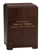 GLENWOOD SOLID WALNUT ADULT URN