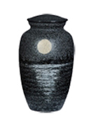 HAND PAINTED METAL URN-MATTE BLACK