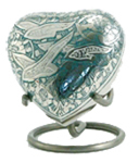 GOING HOME CREMATION URN HEART KEEPSAKE