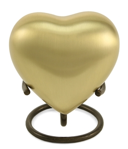 CLASSIC BRONZE CREMATION URN HEART KEEPSAKE