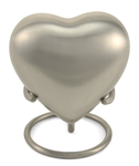 CLASSIC PEWTER CREMATION URN HEART KEEPSAKE