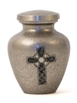 CELTIC CROSS CREMATION URN KEEPSAKE