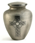 CELTIC CROSS CREMATION URN  - ADULT