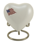 CLASSIC FLAG KEEPSAKE HEART-WHITE