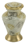 GLENWOOD WHITE MARBLE CREAMTION URN KEEPSAKE