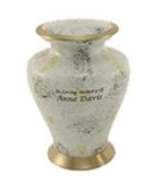 GLENWOOD WHITE MARBLE CREMATION URN-ADULT