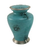 GLENWOOD BLUE MARBLE CREMATION KEEPSAKE URN