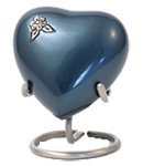 ARTISAN INDIGO CREMATION URN HEART KEEPSAKE