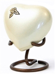 ARTISAN PEARL CREMATION URN HEART KEEPSAKE