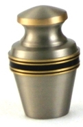 GRECIAN PEWTER CREMATION URN KEEPSAKE