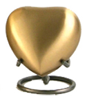 GRECIAN RUSTIC BRONZE CREMATION URN HEART KEEPSAKE