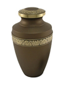 GRECIAN RUSTIC BRONZE CREMATION URN-ADULT
