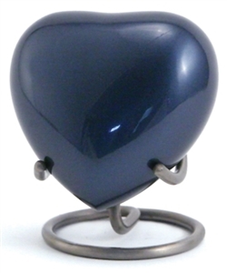 TRINITY MOONLIGHT BLUE CREMATION URN HEART