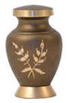 ARIA WHEAT CREMATION URN KEEPSAKE W/VELVET BAG