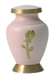 ARIA ROSE CREMATION URN KEEPSAKE W/VELVET BAG