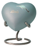 ARIA DOLPHIN CREMATION URN HEART