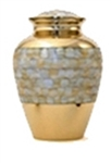 MOTHER OF PEARL ELITE CREMATION URN  - ADULT