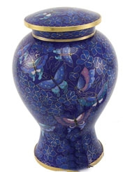 ETIENNE BUTTERFLY CLOISONNE CREMATION URN-ADULT