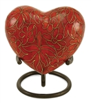 ETIENNE AUTUMN LEAVES  CLOISONNE HEART KEEPSAKE
