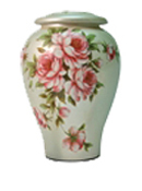 ROSE BOUQUET FLORAL CERAMIC CREMATION URN  - ADULT