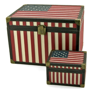STAR SPANGLED BANNER MEMORY CHEST, KEEPSAKE CHEST & URN