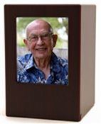ECONOMY MDF PHOTO URNS-WOOD FINISH