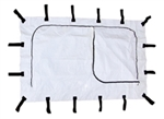 JUMBO EMERGENCY POUCH-WHITE CURVED ZIPPER