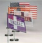 "FLX-A-POST MAGNETIC FUNERAL FLAG 9 1/2"" X 17"""