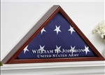 VETERAN MEMORIAL HARDWOOD FLAG CASE