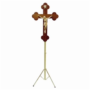 GREEK ORTHODOX CRUCIFIX WITH ADJUSTABLE TRIPOD STAND