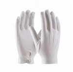 PALLBEARER GLOVES WITH SNAP-WHITE NYLON